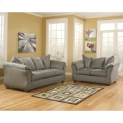 Signature Design by Ashley Darcy Living Room Set in Cobblestone Microfiber Product Image