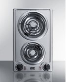 115v 2-burner Coil Cooktop In Stainless Steel With Cord Included; Made In the USA Product Image