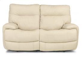 Evian Leather Power Reclining Loveseat