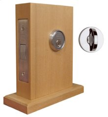 "Modern Mortise Deadlock with 2-3/4"" Backset in (Modern Mortise Deadlock with 2-3/4"" Backset - Solid Brass)"