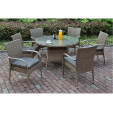 211 / Liz.p13- 7PC OUTDOOR PATIO TABLE SET [P50266(1)+P50162(6)]