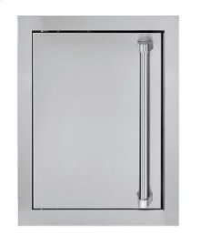 "16"" Stainless Steel Access Door, Chrome Accent"