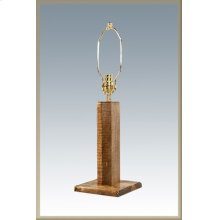 Homestead Table Lamp Stained and Lacquered