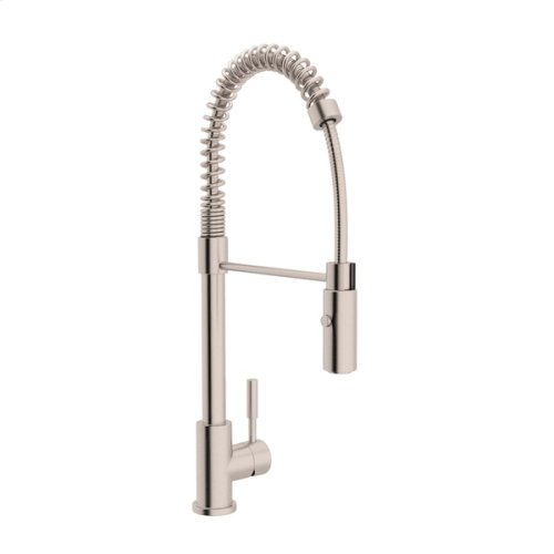 Lux Side Lever Stainless Steel Pro Pull-Down Kitchen Faucet