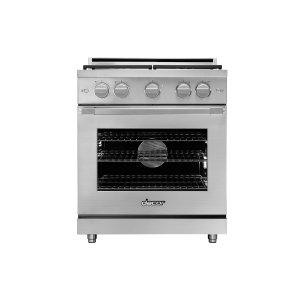 "Dacor30"" Heritage Gas Pro Range, Silver Stainless Steel, Natural Gas"