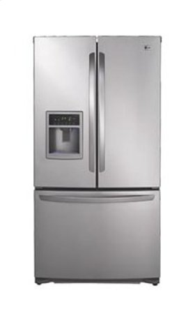 Large Capacity 3 Door French Door Refrigerator with Ice & Water Dispenser