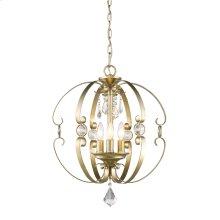 Ella 3 Light Pendant in White Gold
