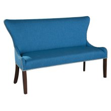 Christine Settee with Nailheads