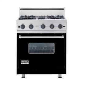 "Black 30"" Open Burner Range - VGIC (30"" wide, four burners)"