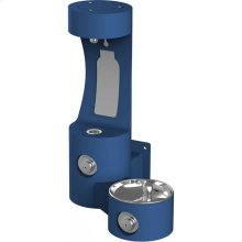 Elkay Outdoor EZH2O Bottle Filling Station Wall Mount, Non-Filtered Non-Refrigerated, Blue