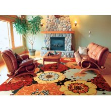 Home & Garden Rs021 Blk Rectangle Rug 7'9'' X 10'10''