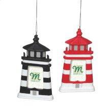 Lighthouse 1/12x2 Frame Ornament (2 asstd).