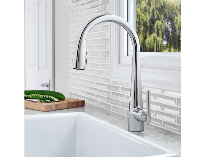 Hidden · Additional Polished Chrome Lita With XtractTM 1 Handle, Pull Down Kitchen  Faucet