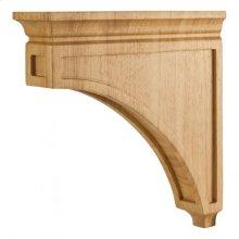 "3"" x 12"" x 12"" Mission Style Wood Bar Bracket Corbel, Species: White Birch"