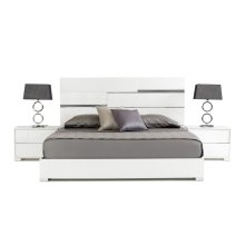 Modrest Ancona Italian Modern White Bed