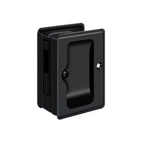 "HD Pocket Lock, Adjustable, 3 1/4""x 2 1/4"" Sliding Door Receiver - Paint Black"