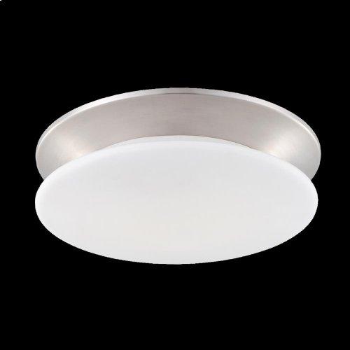 1-LIGHT FLUSHMOUNT - Satin Nickel