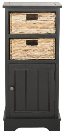 Connery Cabinet - Distressed Black