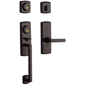 Distressed Venetian Bronze Soho Two-Point Lock Handleset