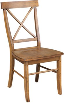 X Back Chair Pecan