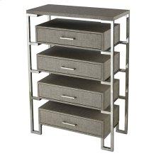 Mezzanine 4-drawer Chest In Stainless