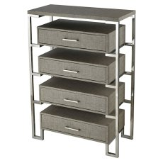 Mezzanine 4-drawer Chest - Stainless Product Image