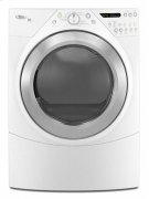 Silver Metallic-on-White Whirlpool® Duet® Steam 7.2 cu. ft. Dryer Product Image