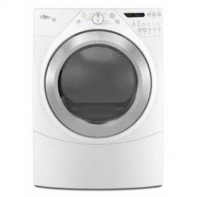 Silver Metallic-on-White Whirlpool® Duet® Steam 7.2 cu. ft. Dryer
