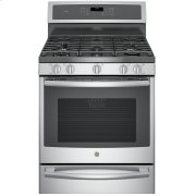 """GE Profile™ Series 30"""" Free-Standing Gas Convection Range with Warming Drawer Product Image"""