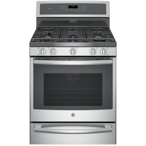 "GE ProfileSeries 30"" Free-Standing Gas Convection Range with Warming Drawer"