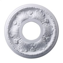 Acanthus Medallion 11 Inch in White Finish