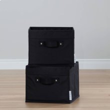 Canvas Baskets, 2-Pack - Black