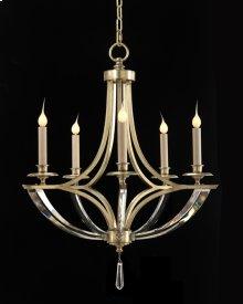Bent-Crystal Five-Light Chandelier