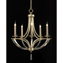 Bent-Crystal Five-Light Chandelier