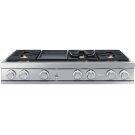 "Modernist 48"" Rangetop, Silver Stainless Steel, Natural Gas Product Image"