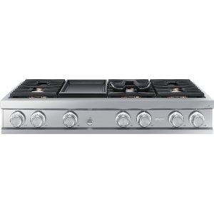 "DacorModernist 48"" Rangetop, Silver Stainless Steel, High Altitude Natural Gas"