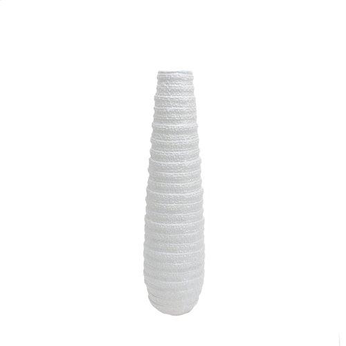 """Textured White Ceramic Vase 26"""""""