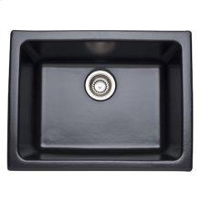 Matte Black Allia Fireclay Single Bowl Undermount Kitchen Or Laundry Sink