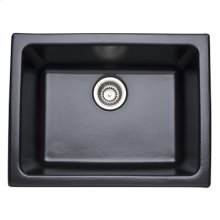 Matte Black Allia Fireclay Single Bowl Undermount Kitchen Or Laundry Sink