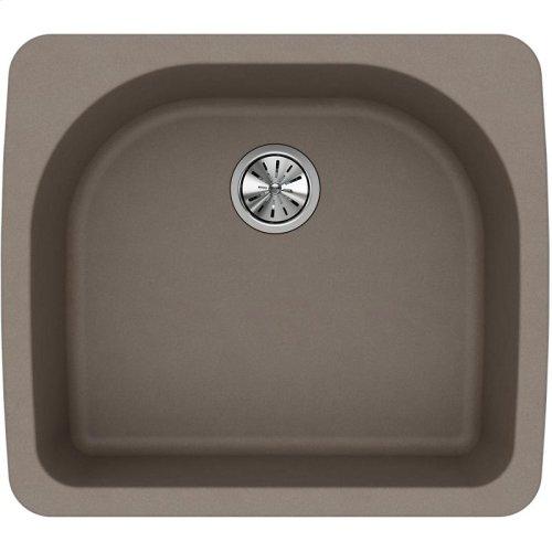 """Elkay Quartz Classic 25"""" x 22"""" x 8-1/2"""", Single Bowl Drop-in Sink, Greige"""