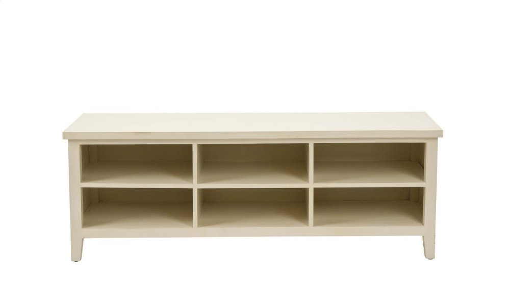 Sadie Low Bookshelf - Shady White