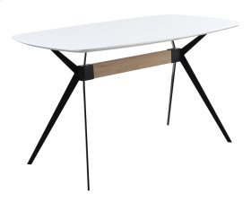 Allison - Gather Table Complete-white MDF Top/black Metal Base 36x63x36h Rta