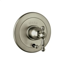 Satin Nickel Arcana Volume Control Pressure Balance Trim With Diverter with Arcana Classic Metal Lever