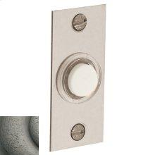Distressed Antique Nickel Rectangular Bell Button
