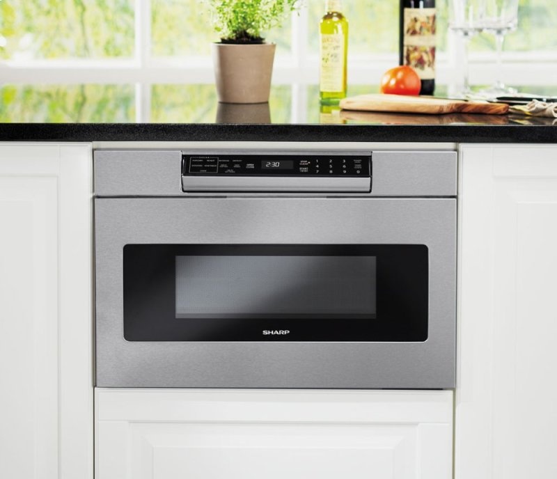 1000w Sharp Stainless Steel Microwave Drawer Oven