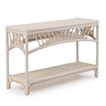 Rattan Console Table Whitewash 4414