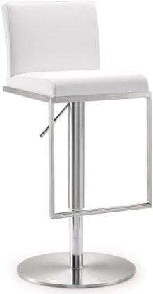 Amalfi White Steel Adjustable Barstool