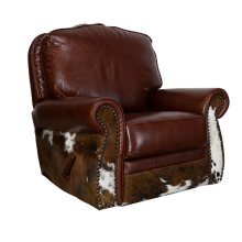 Leather/Cowhide Glider-Swivel Rocker Recliner