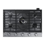 "Samsung30"" Gas Cooktop with 22K BTU True Dual Power Burner"