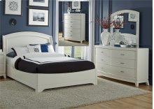 King Panel Bed, Dresser & Mirror, Chest